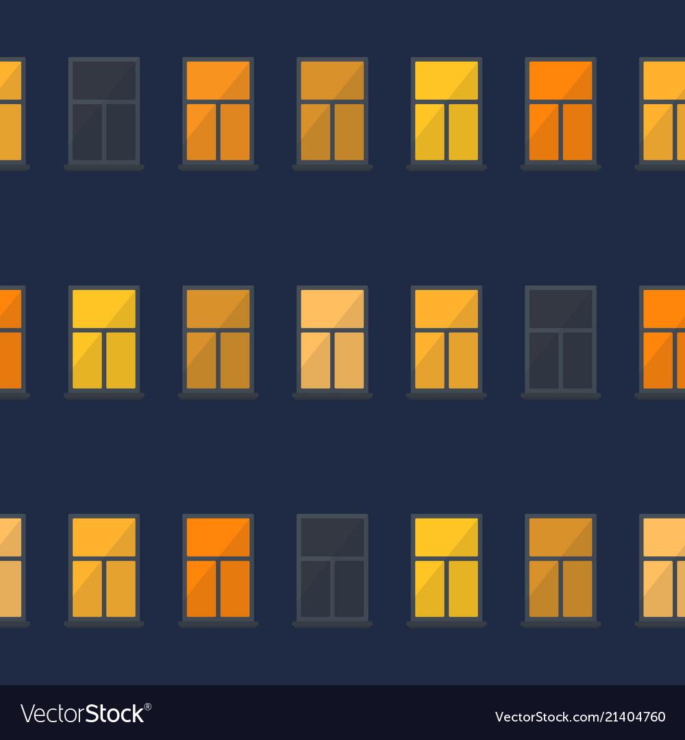 Night window simple seamless pattern