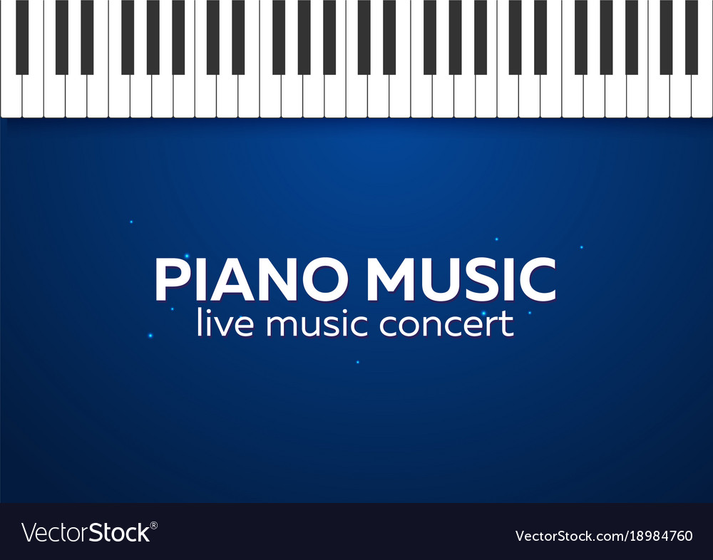 Piano Concert Poster Design Live Music Vector Image