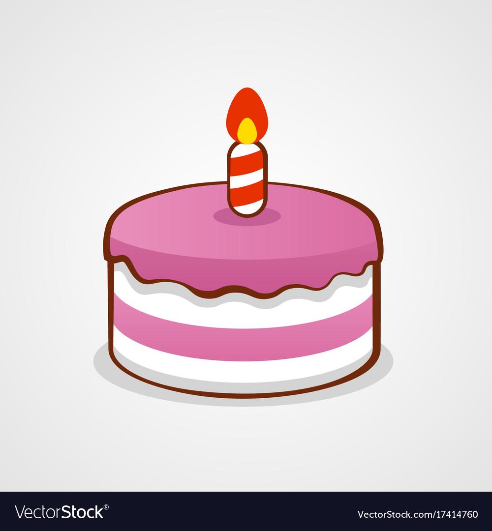 Pink birthday cake birthday or anniversary