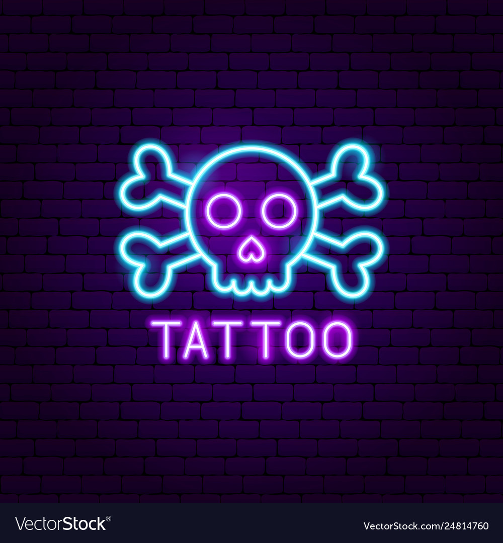 Tattoo neon label
