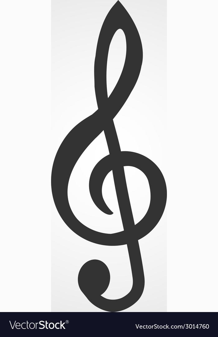 treble clef icon flat design royalty free vector image rh vectorstock com treble clef vector free download treble clef vector graphic