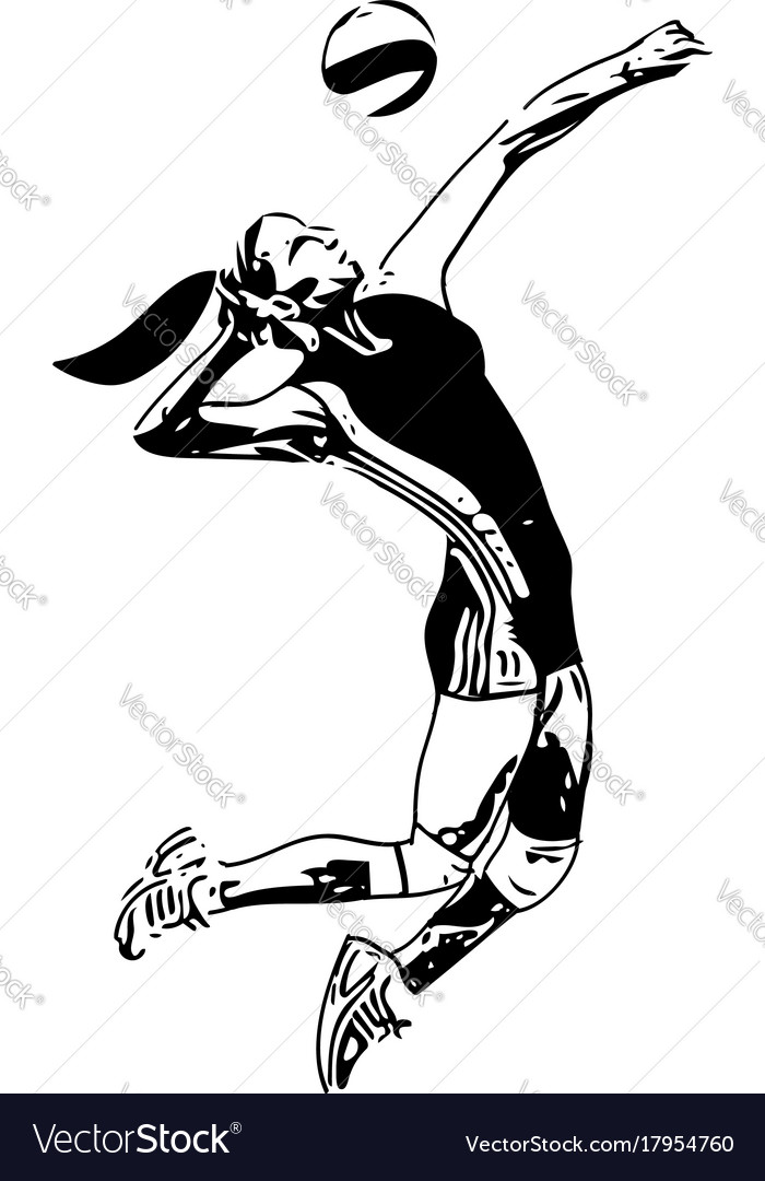 Volleyball player playing