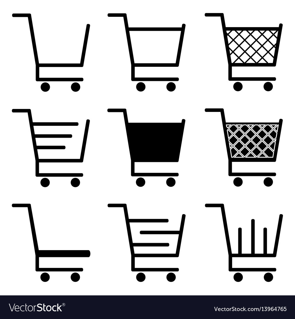 Collection of shopping cart icons