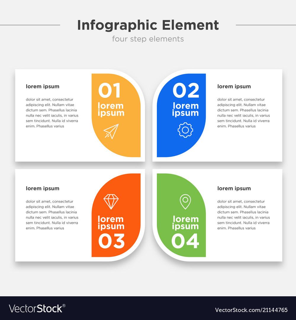 Infographic element four option box set