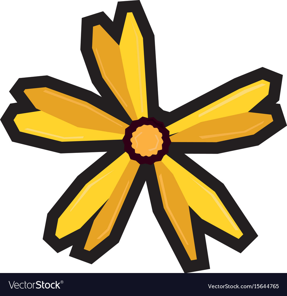 Isolated geometric flower