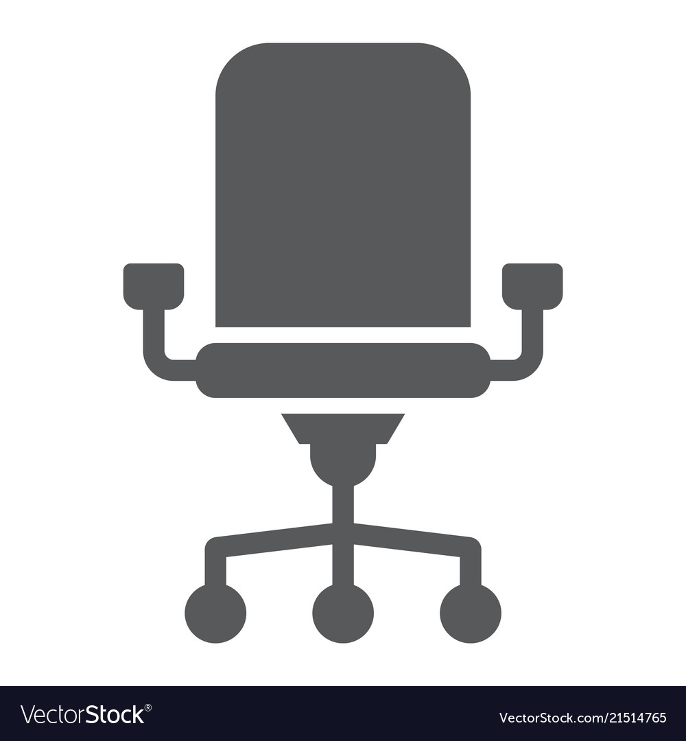 Office Chair Glyph Icon And Work