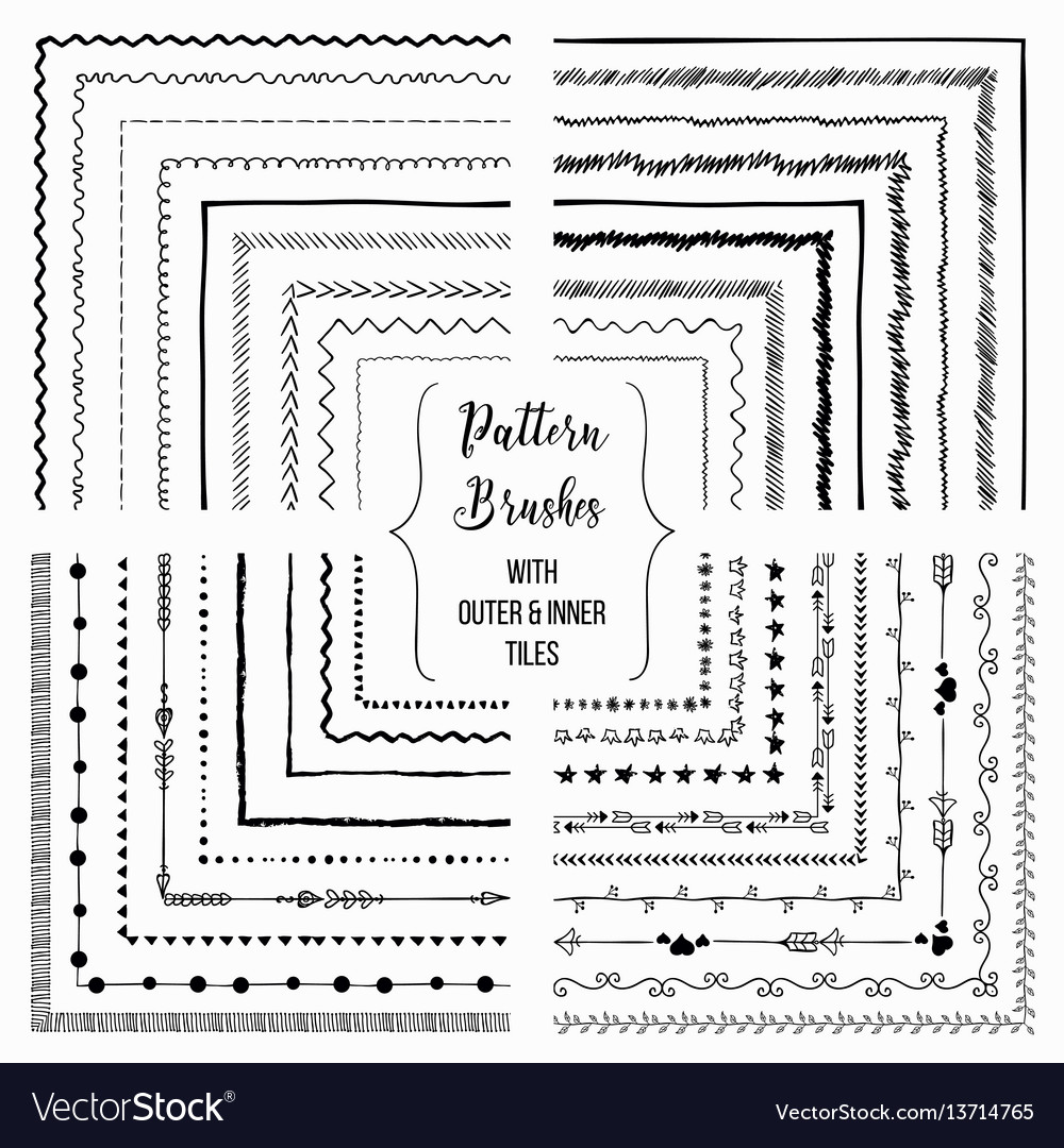 Pattern brushes with outer and inner tiles