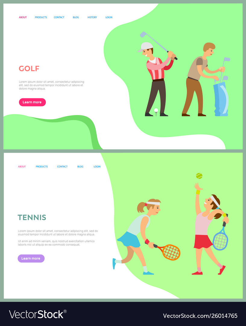 People playing tennis and golf activity