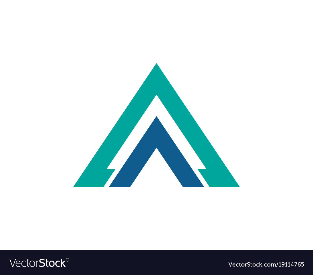 Triangle business logo and symbols app template vector image wajeb Images