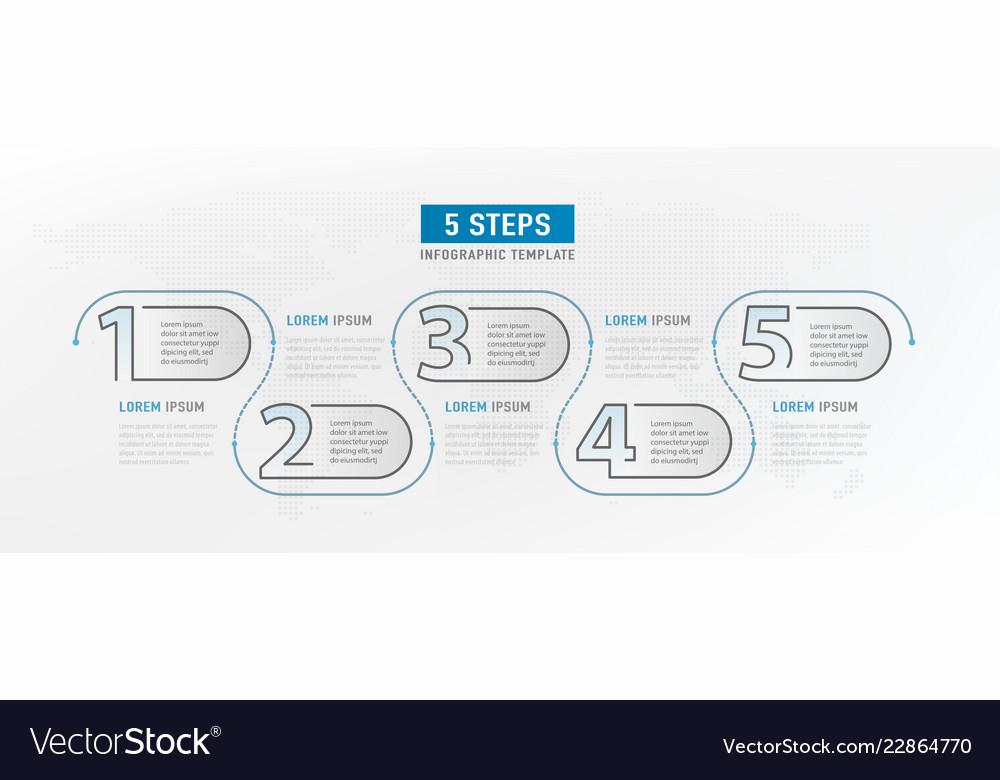 5 step elements workflow graphic design
