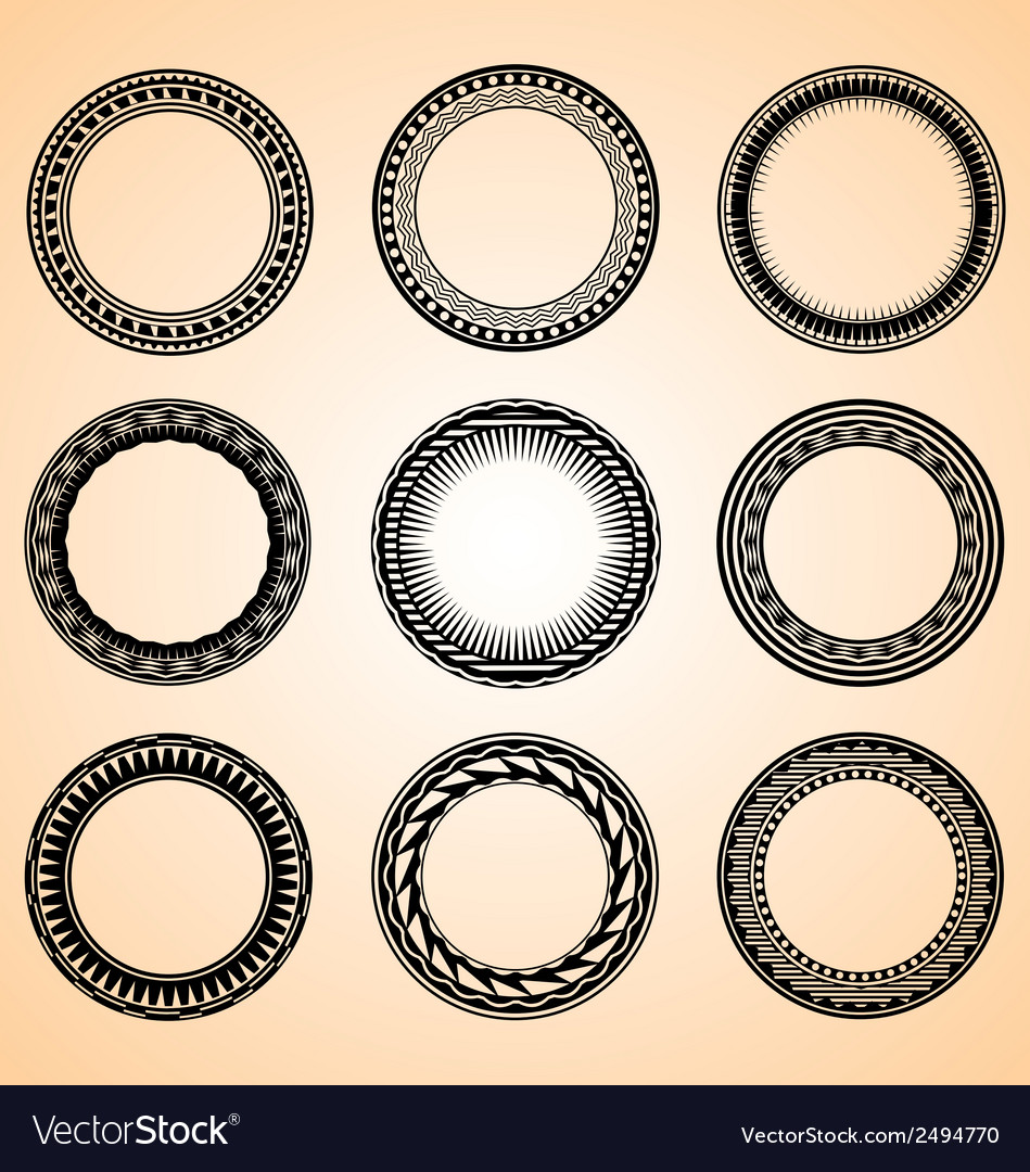 Artistic Circular Set
