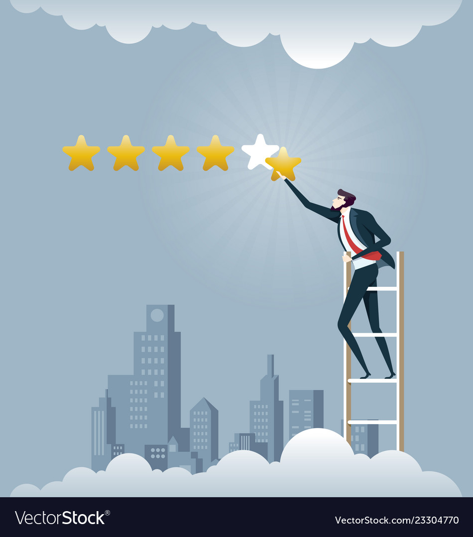 Businessman giving five star rating - business