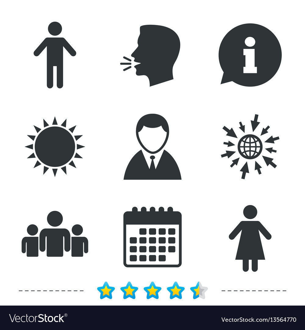 Businessman person icon group of people symbol
