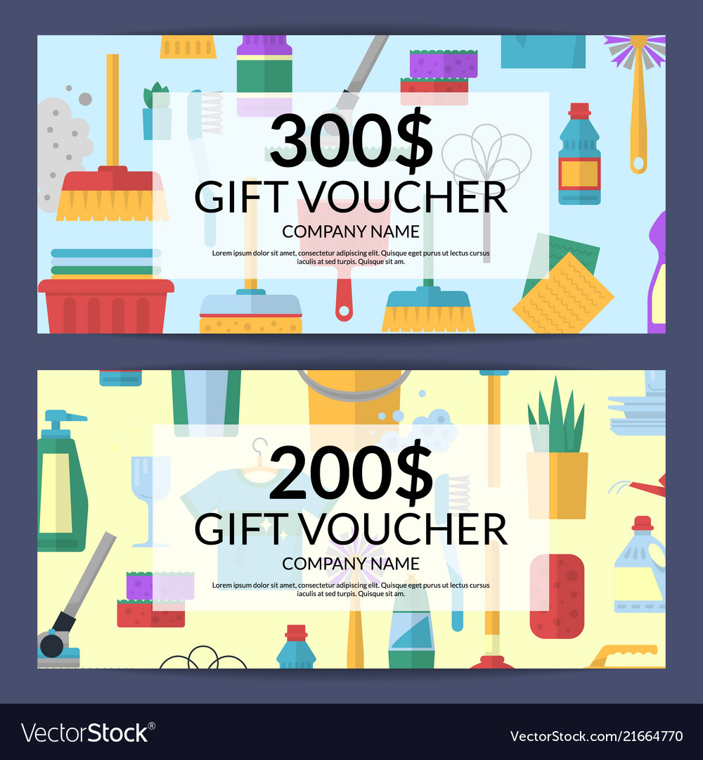 Cleaning icon discount gift voucher for