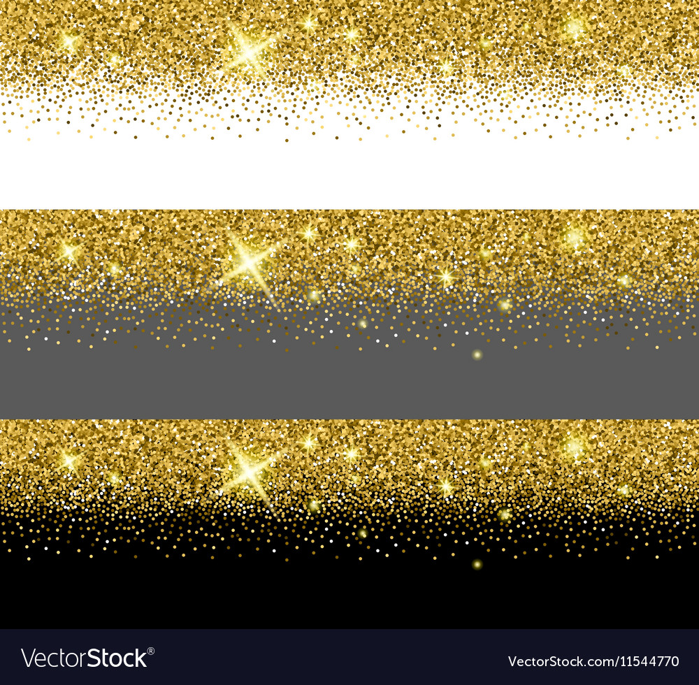 gold glitter card templates royalty free vector image