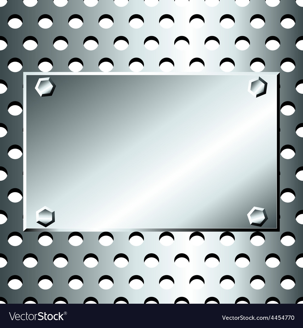 Seamless stainless grid with bolted plate