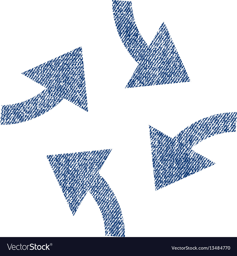 Swirl arrows fabric textured icon vector image