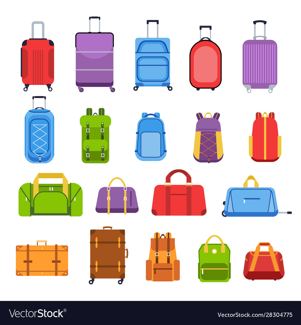 Baggage suitcases luggage and handle bags