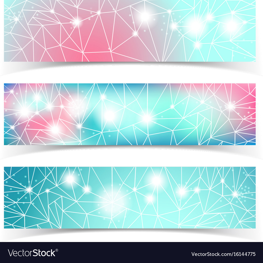 Banner set with multiple lines