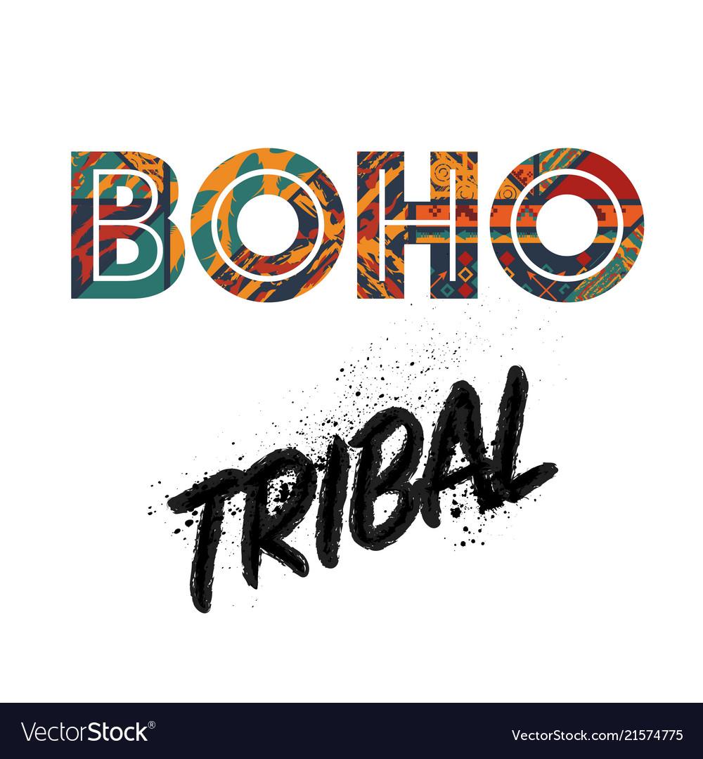 Boho tribal background