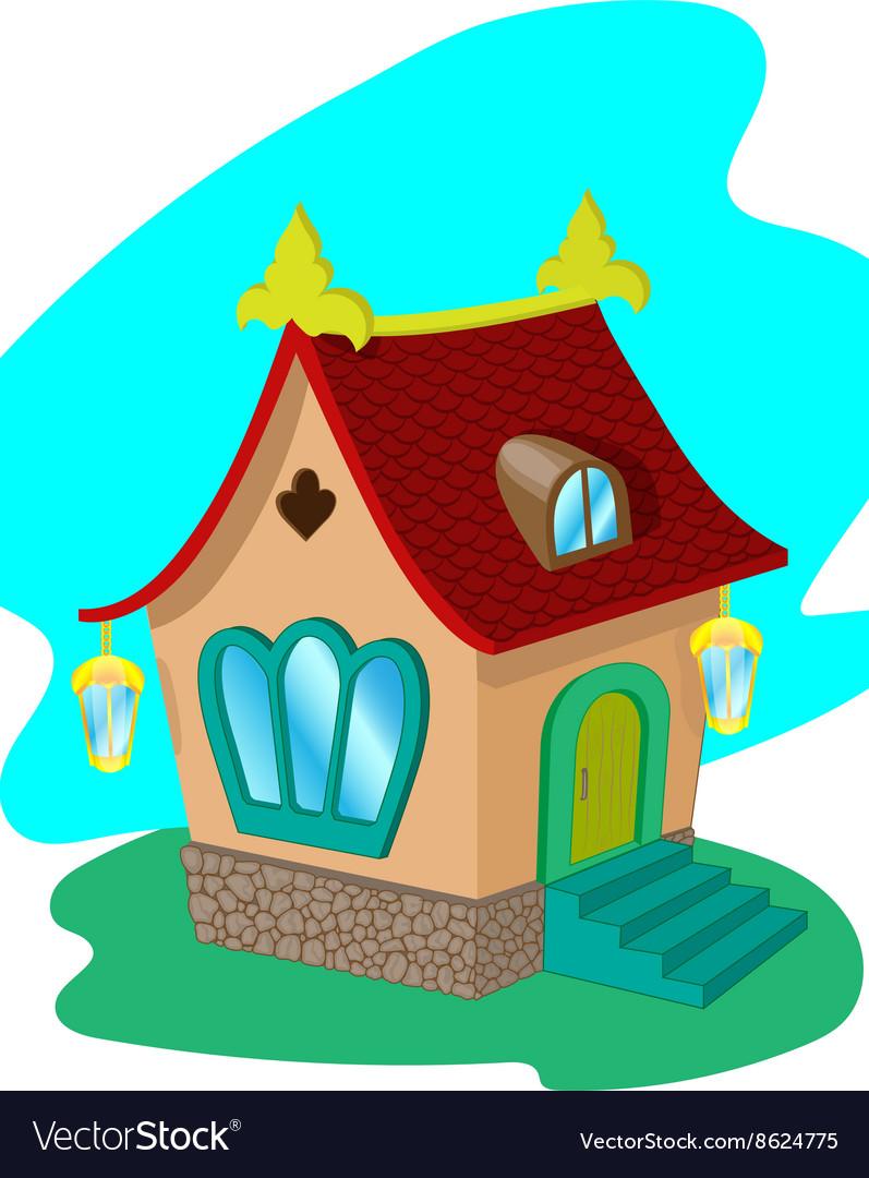 Cartoon fairy house