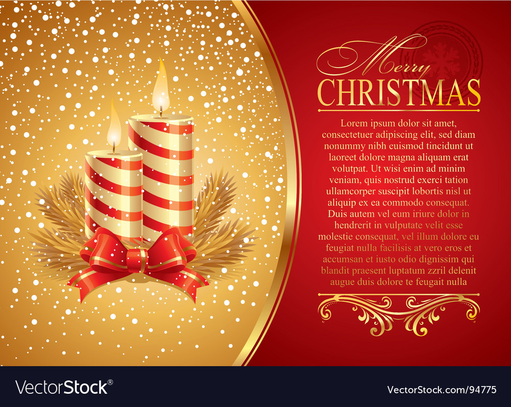 Christmas illustration with holidays candles vector image