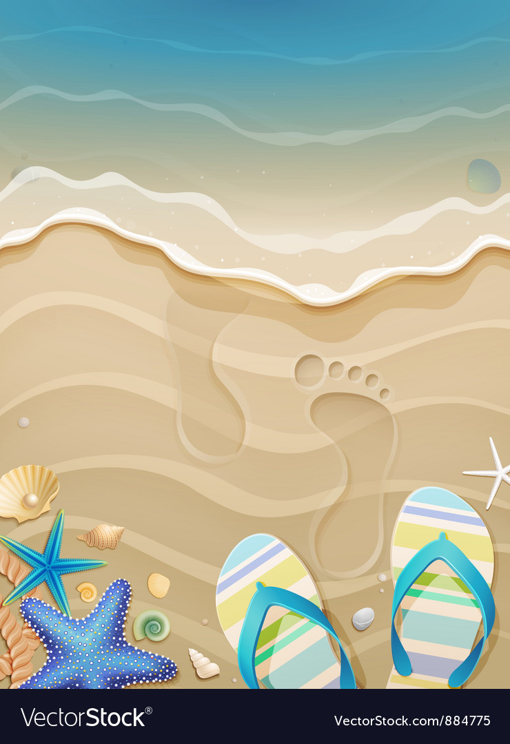 Footprints on sand vector image