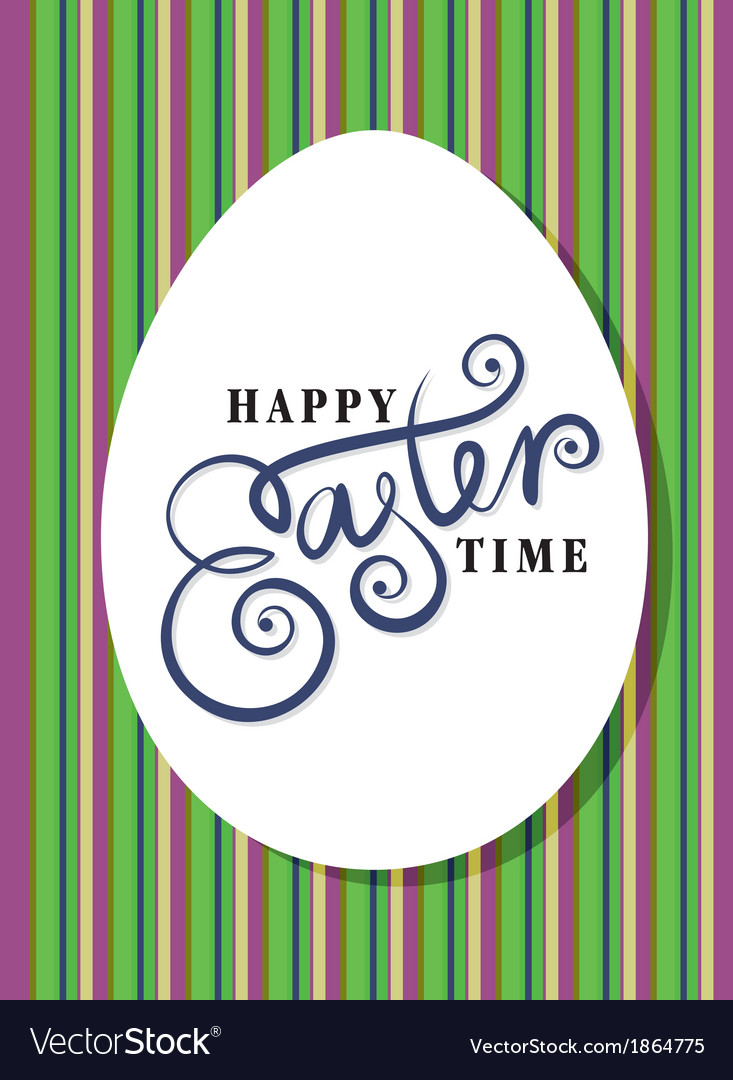 Happy easter greeting card hand lettering
