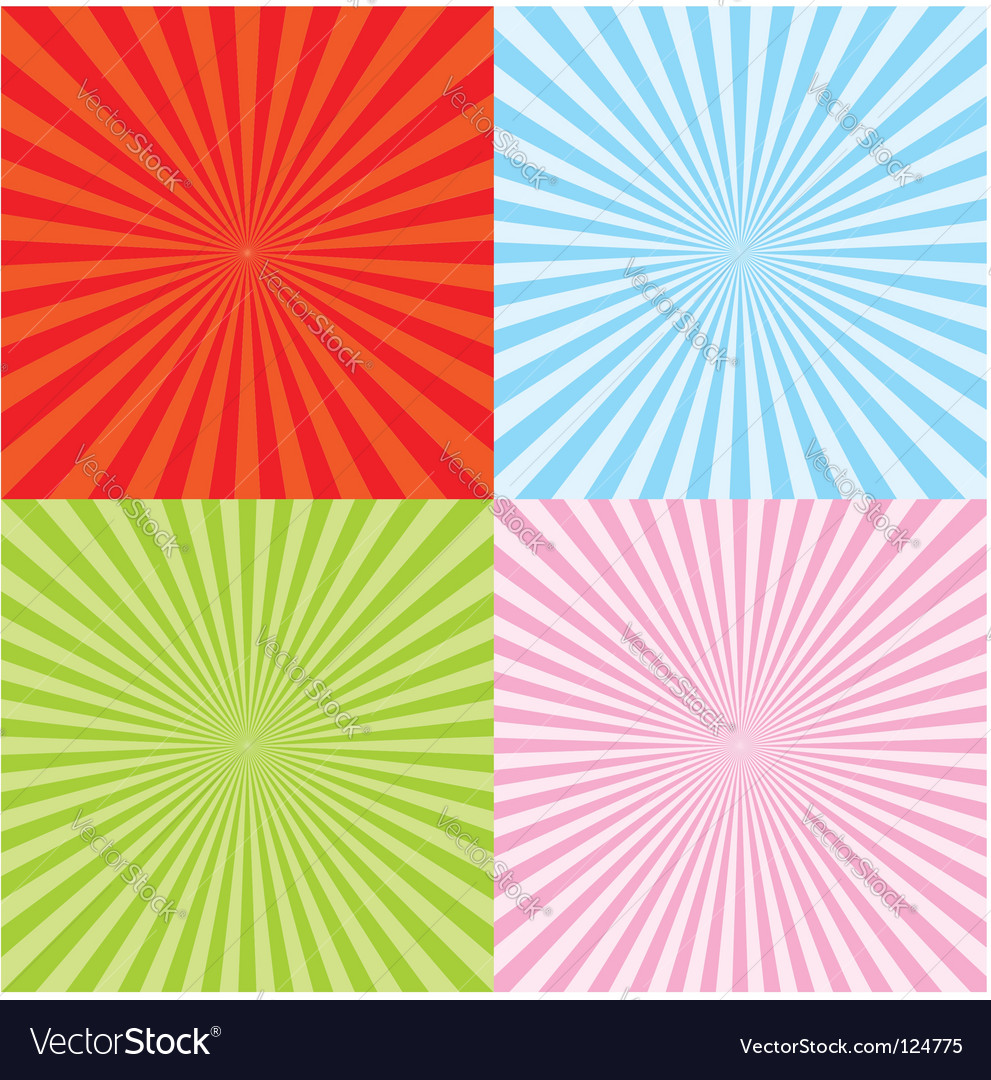 Set of radiant backgrounds vector image