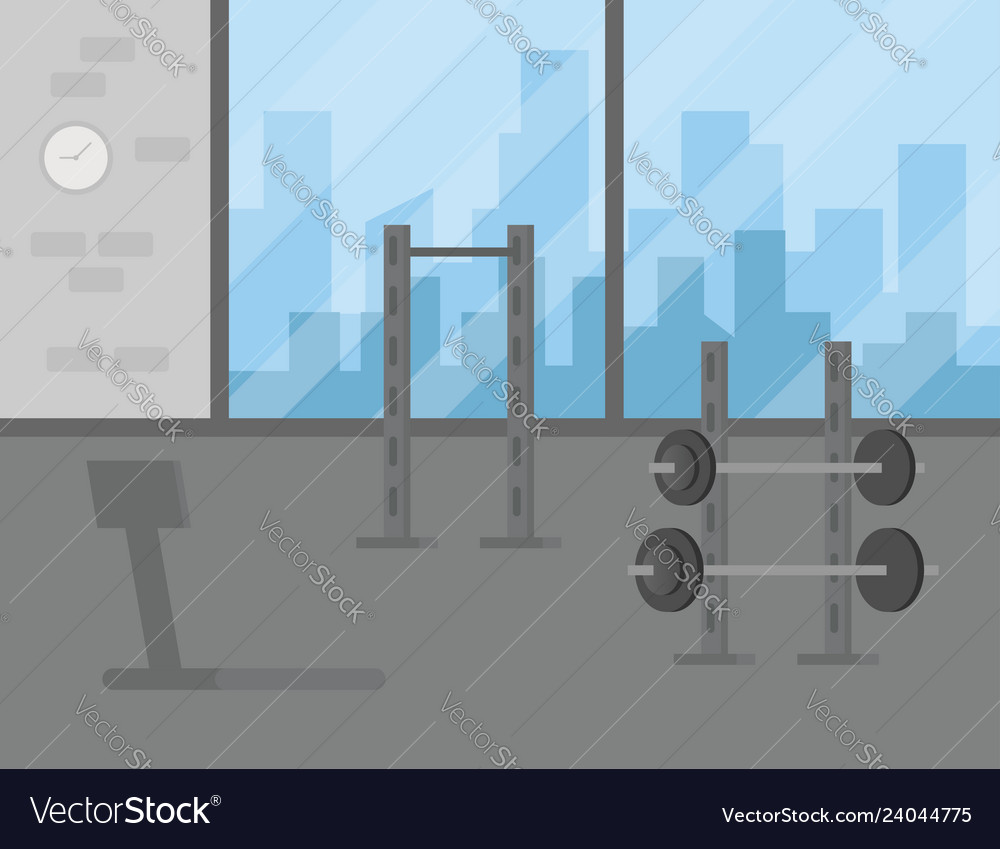 Dressing room interior with lockers in gym or fitness club stock