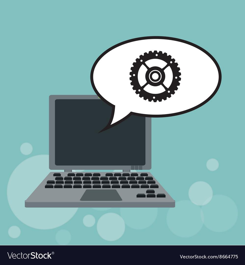 Technology design laptop icon internet concept