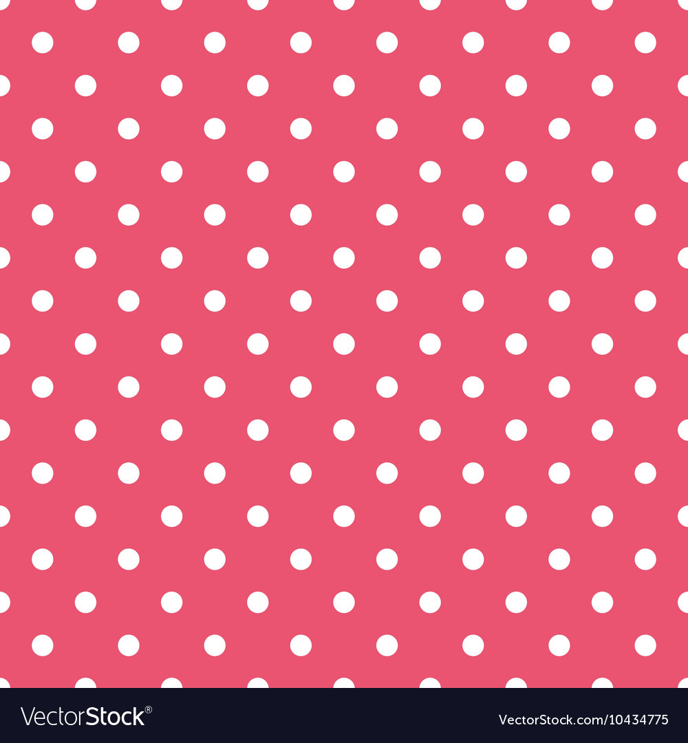Tile pattern with white polka dots on pink