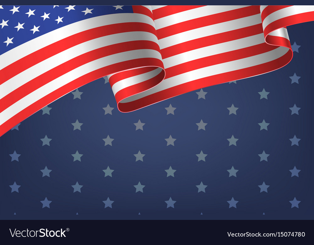 Abstract empty background with american flag
