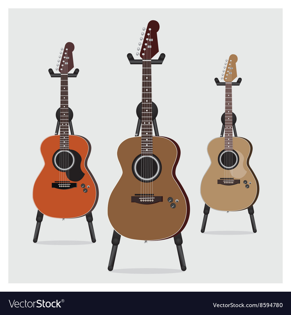 Acoustic Electric Guitar set