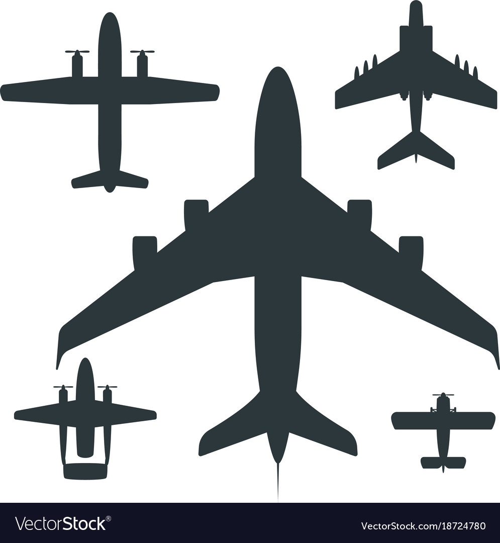 airplane silhouette aircraft royalty free vector image