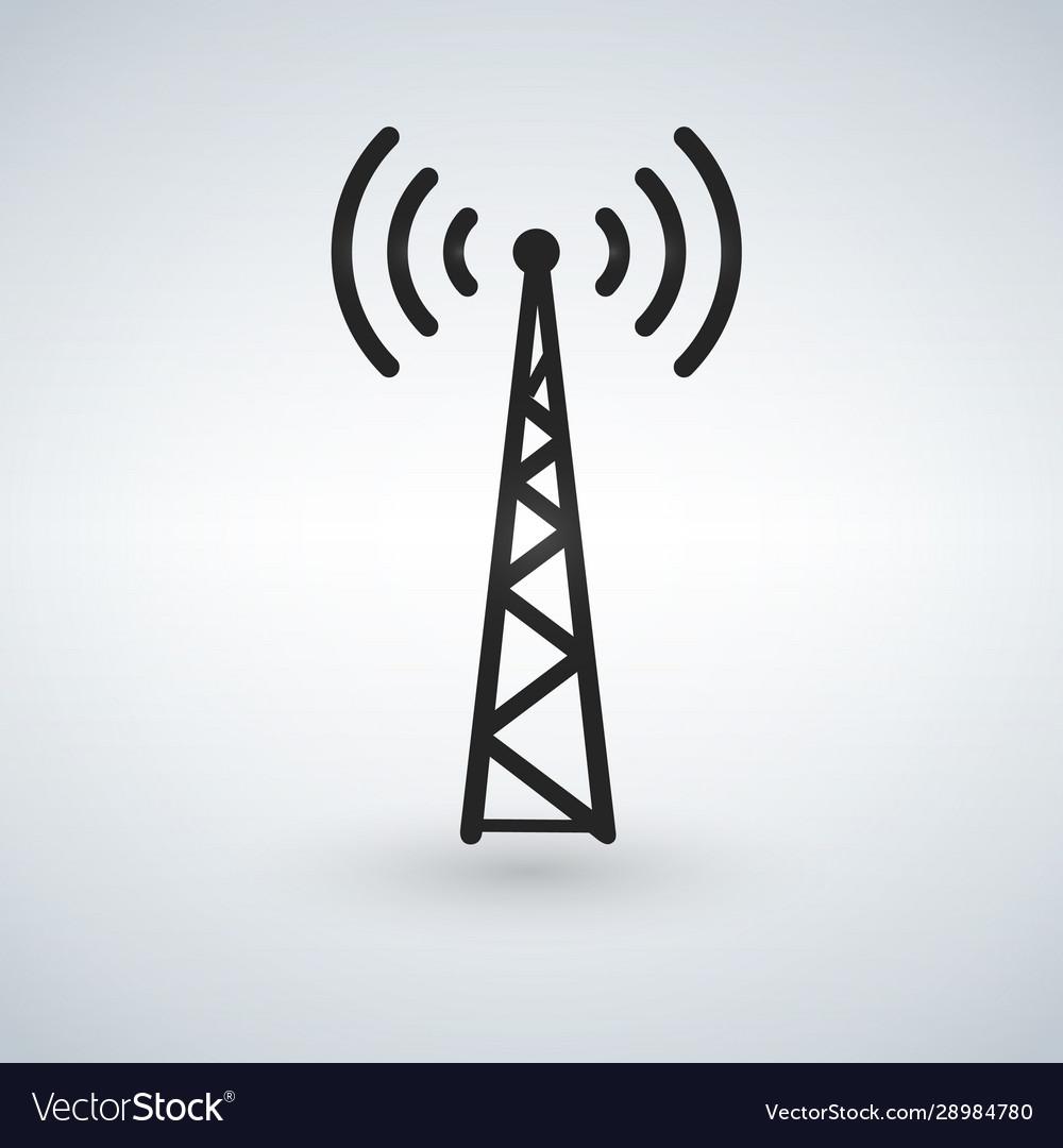 cell phone tower wifi antena black icon royalty free vector  vectorstock