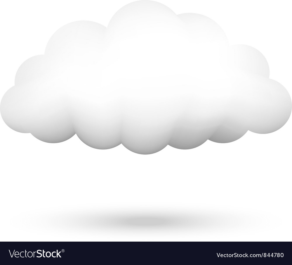 cloud royalty free vector image vectorstock rh vectorstock com cloud vector png cloud vector line keyboard