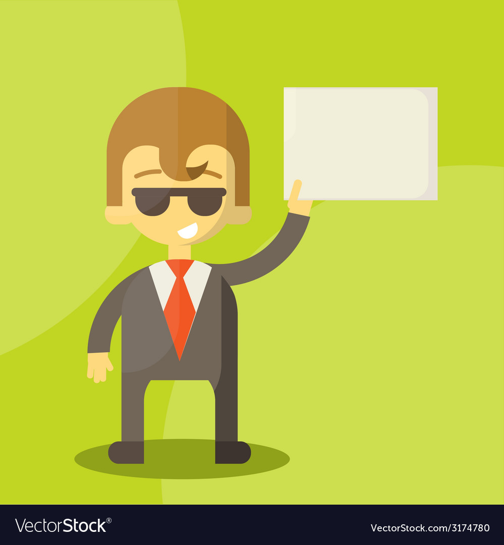 Funny cartoon manager in various poses