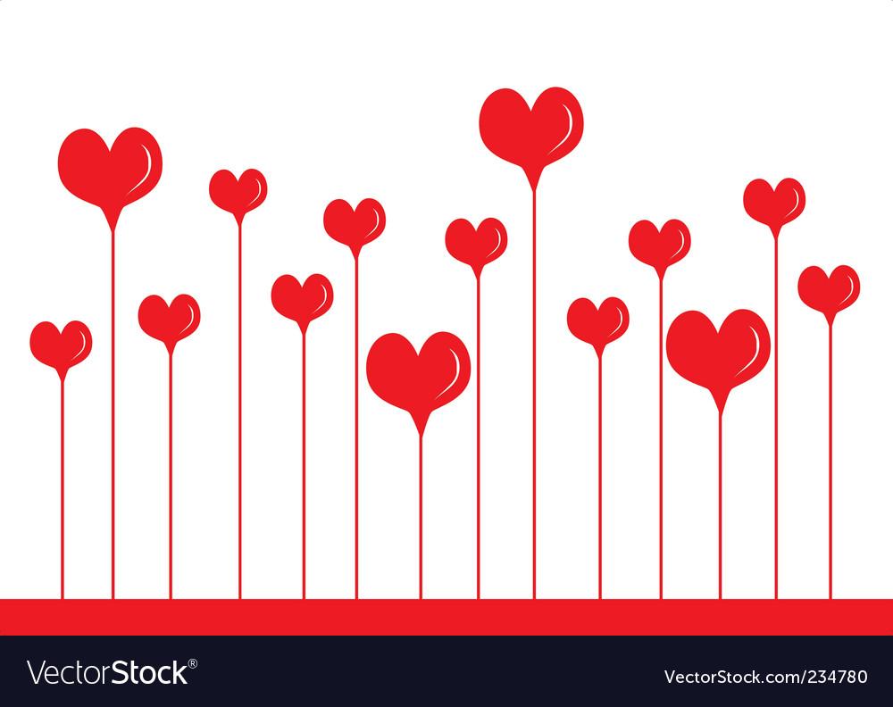 Heart border Royalty Free Vector Image - VectorStock