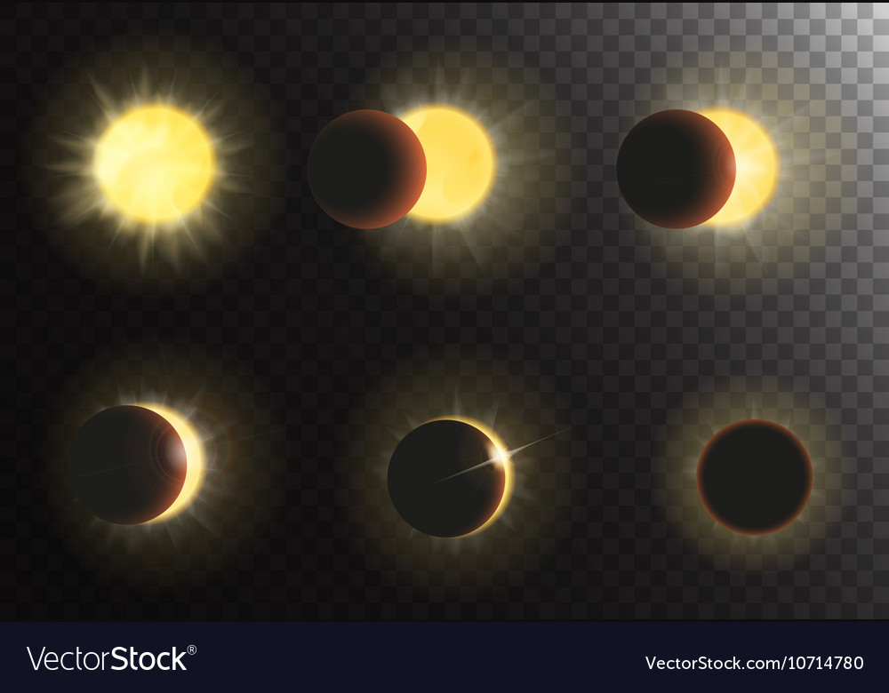 Sun eclipse Different phases