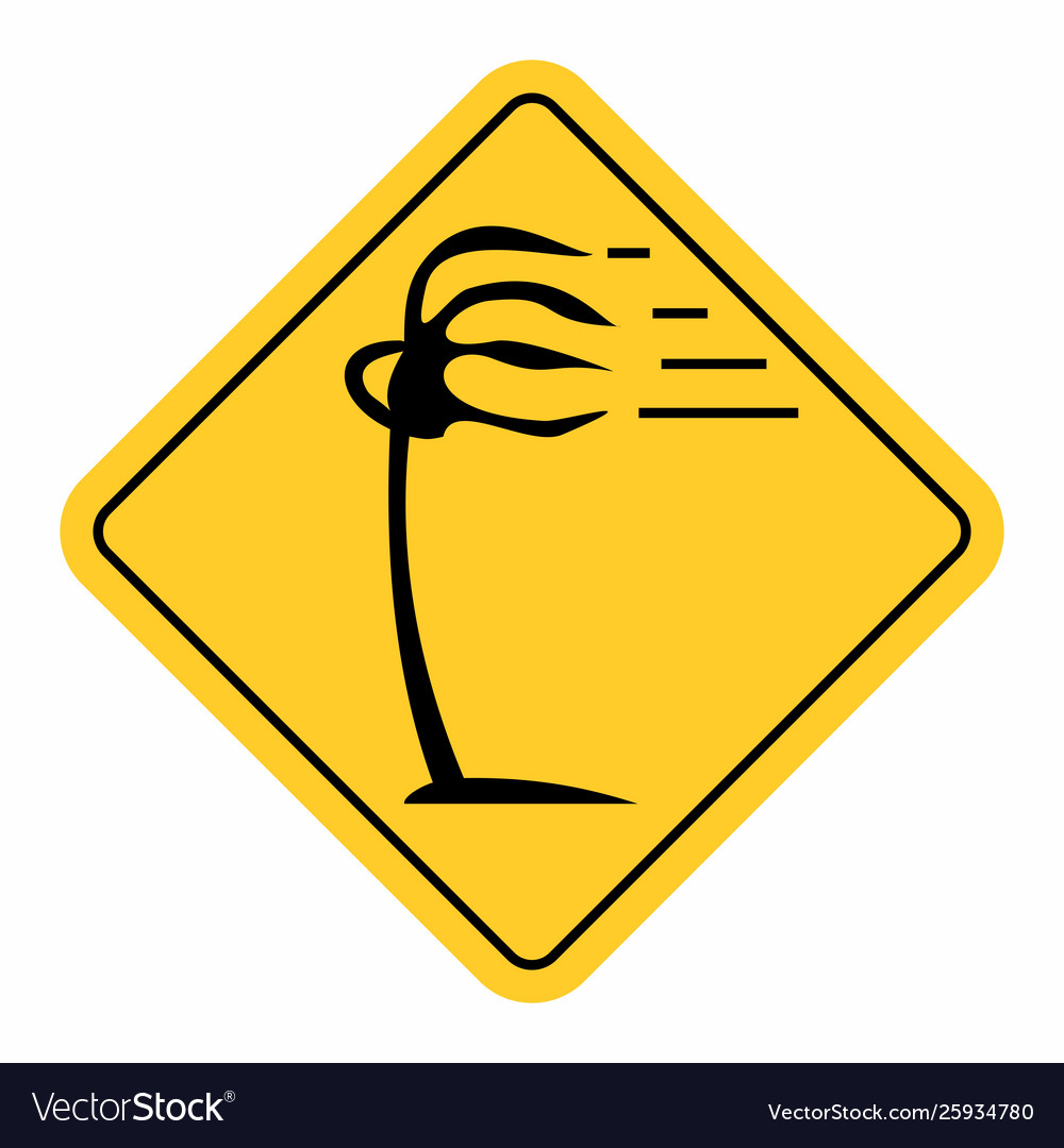 Wind traffic sign