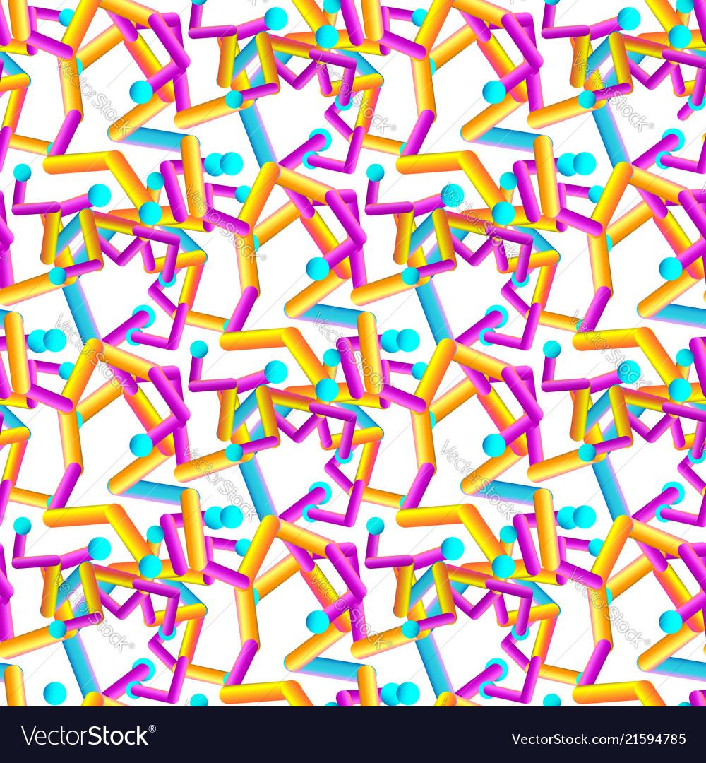 Abstract geometric seamless gradient pattern