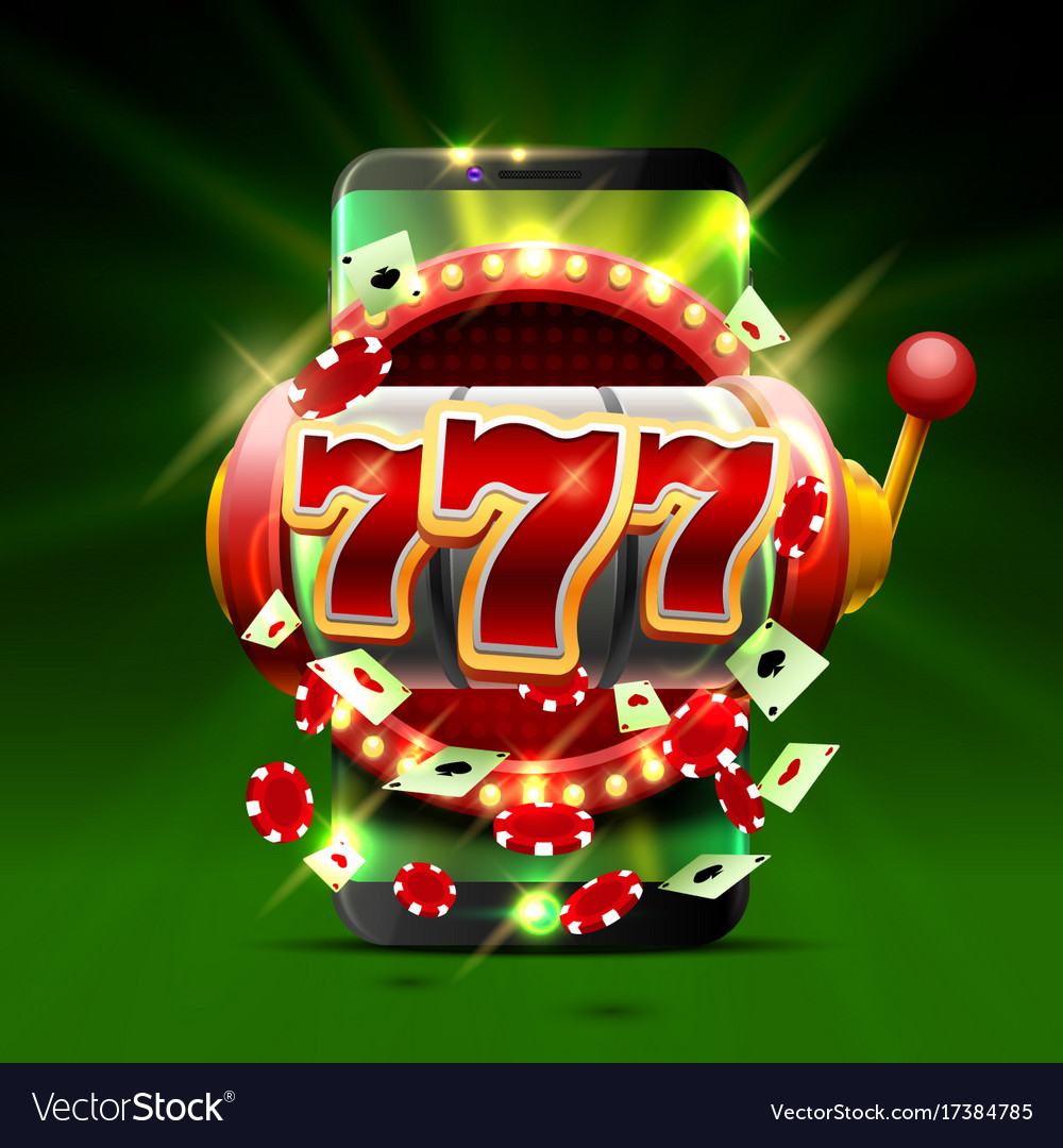 Big Win Slots 777 Phone Casino Background Vector Image