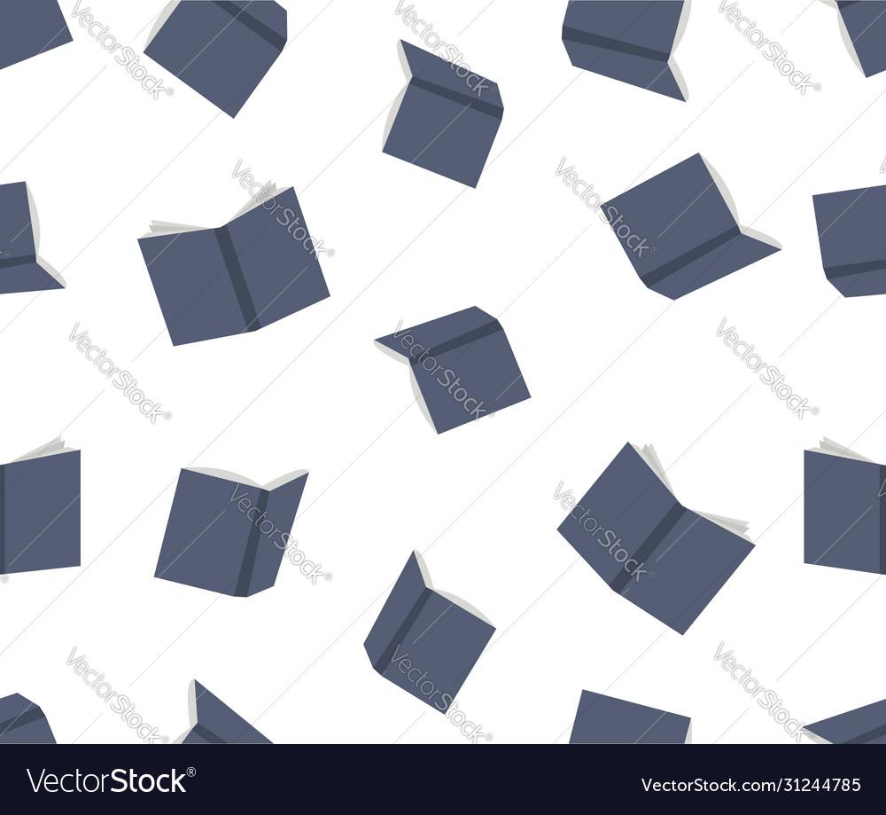 Blue books seamless pattern background