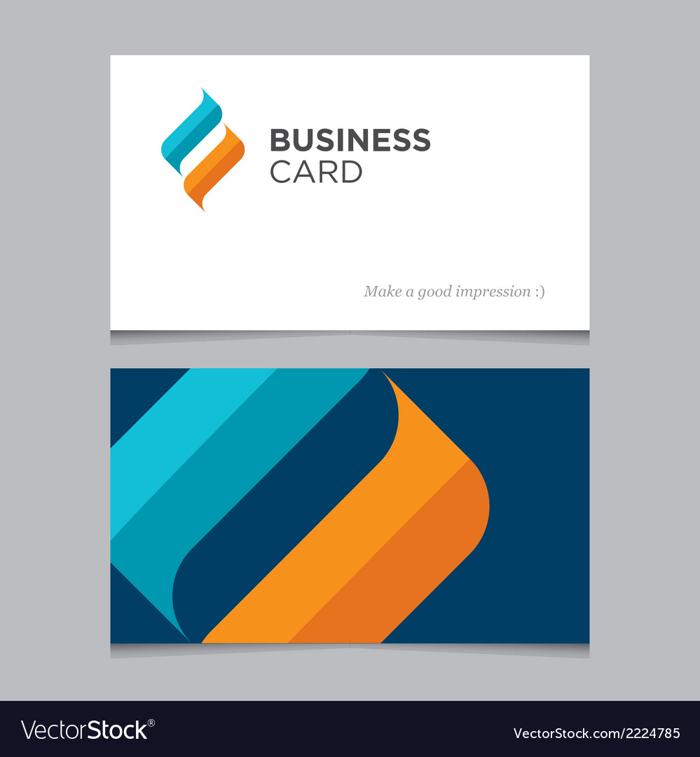 Business card 02 vector image