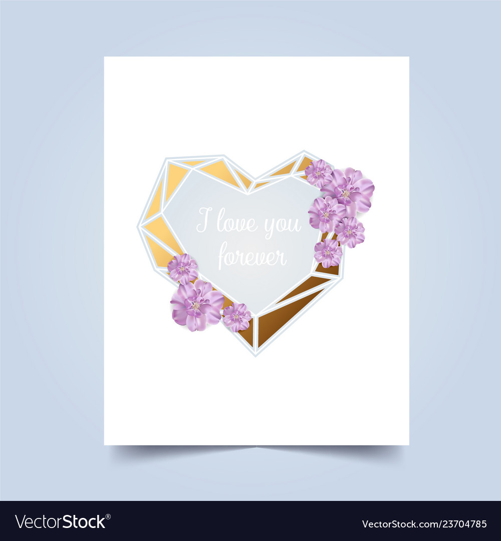 I love you greeting card valentins day