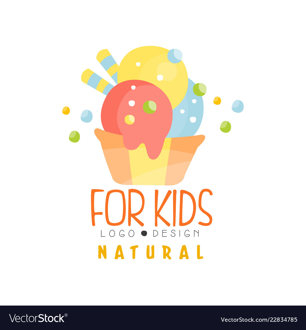 Natural for kids logo healthy menu colorful