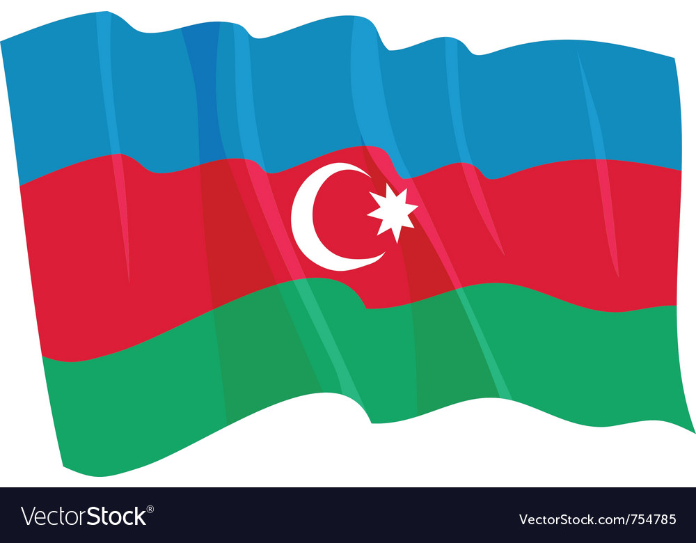 Political waving flag of azerbaijan