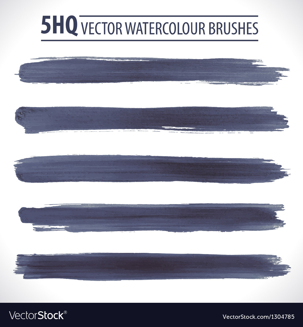 Set of watercolor brushes vector image