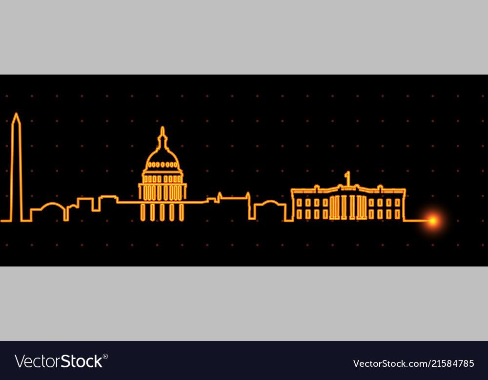 Washington light streak skyline